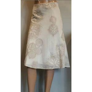 💜 Calvin Klein Jeans A Line Skirt Floral Midi